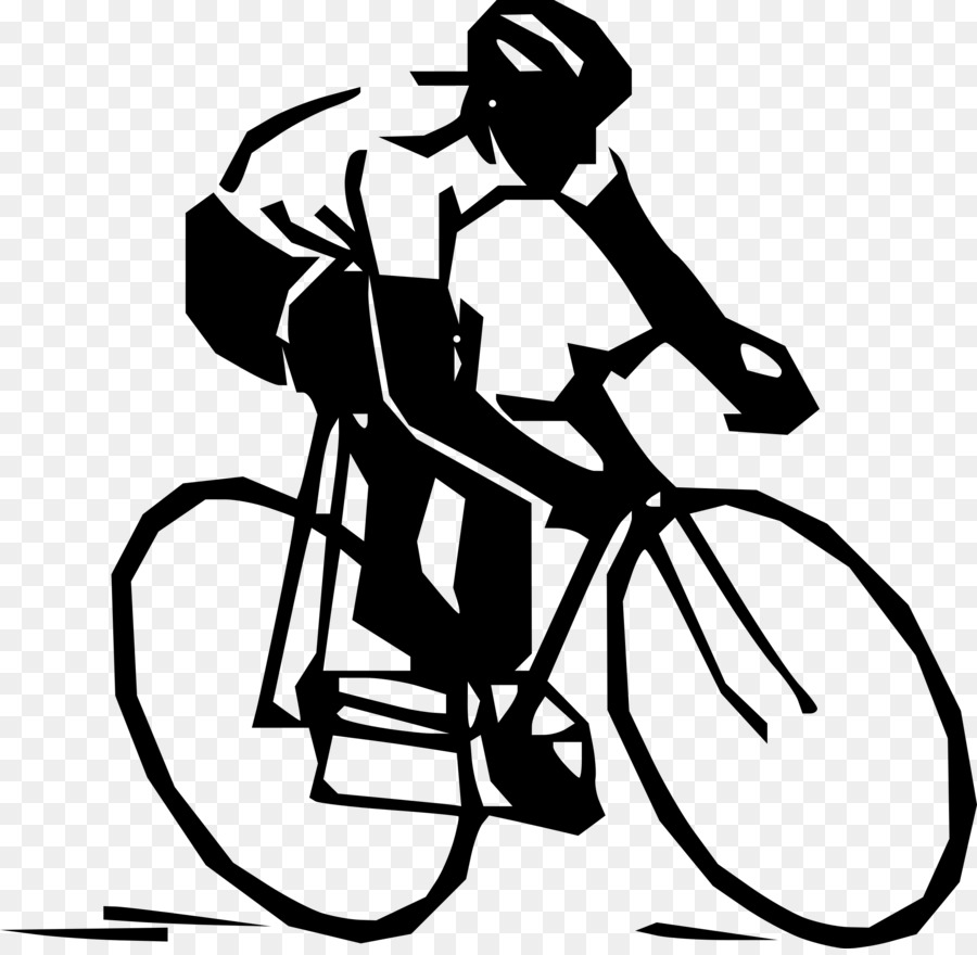 Black and white frame. Clipart bicycle cycling sport