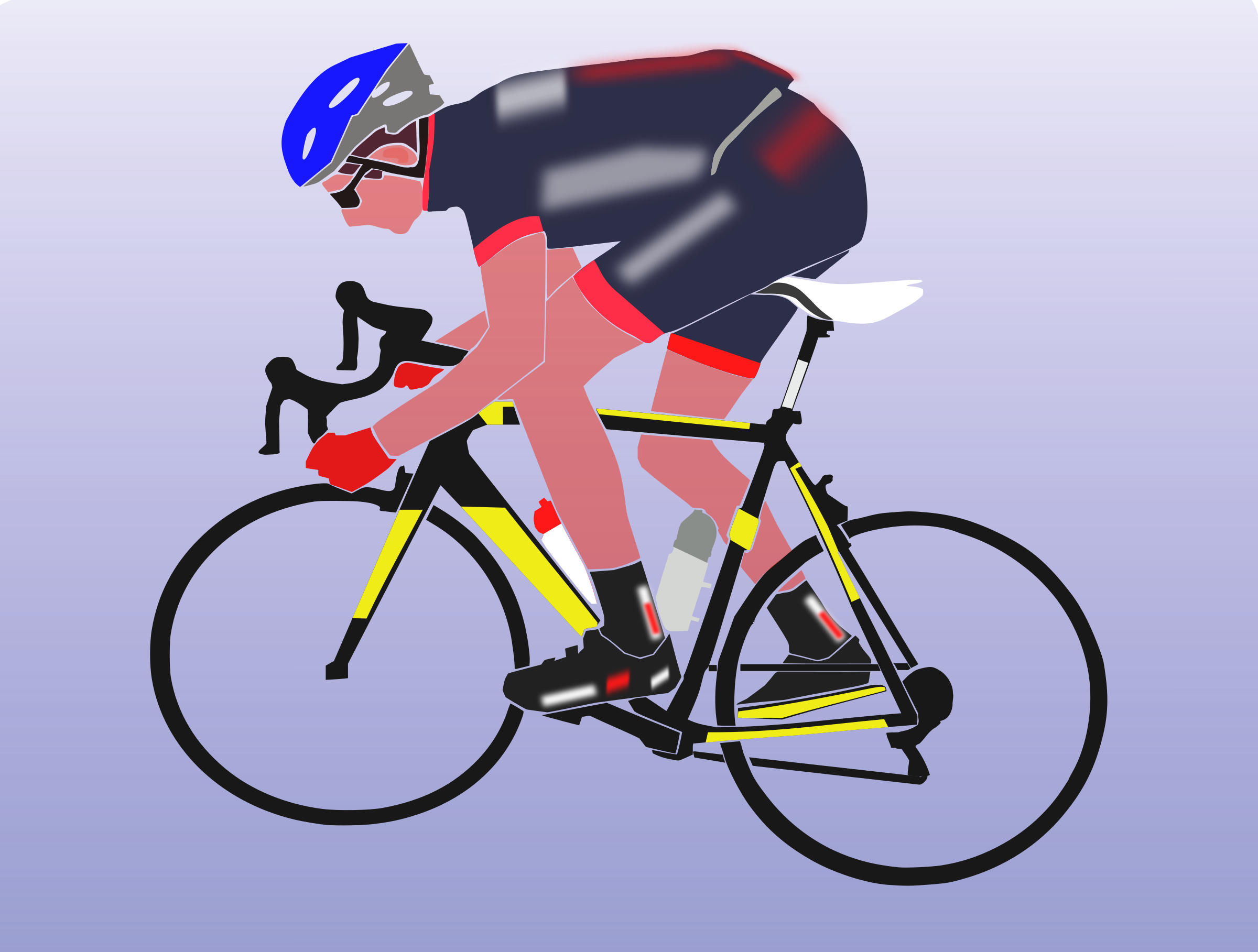 Cyclist boy big image. Clipart bicycle cycling sport