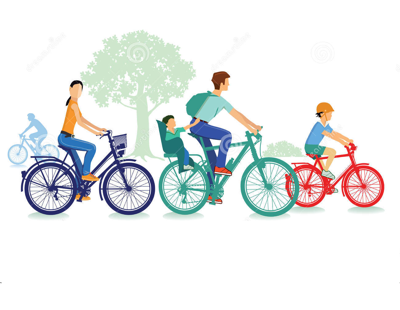 Clipart bicycle family. Bike ride photo