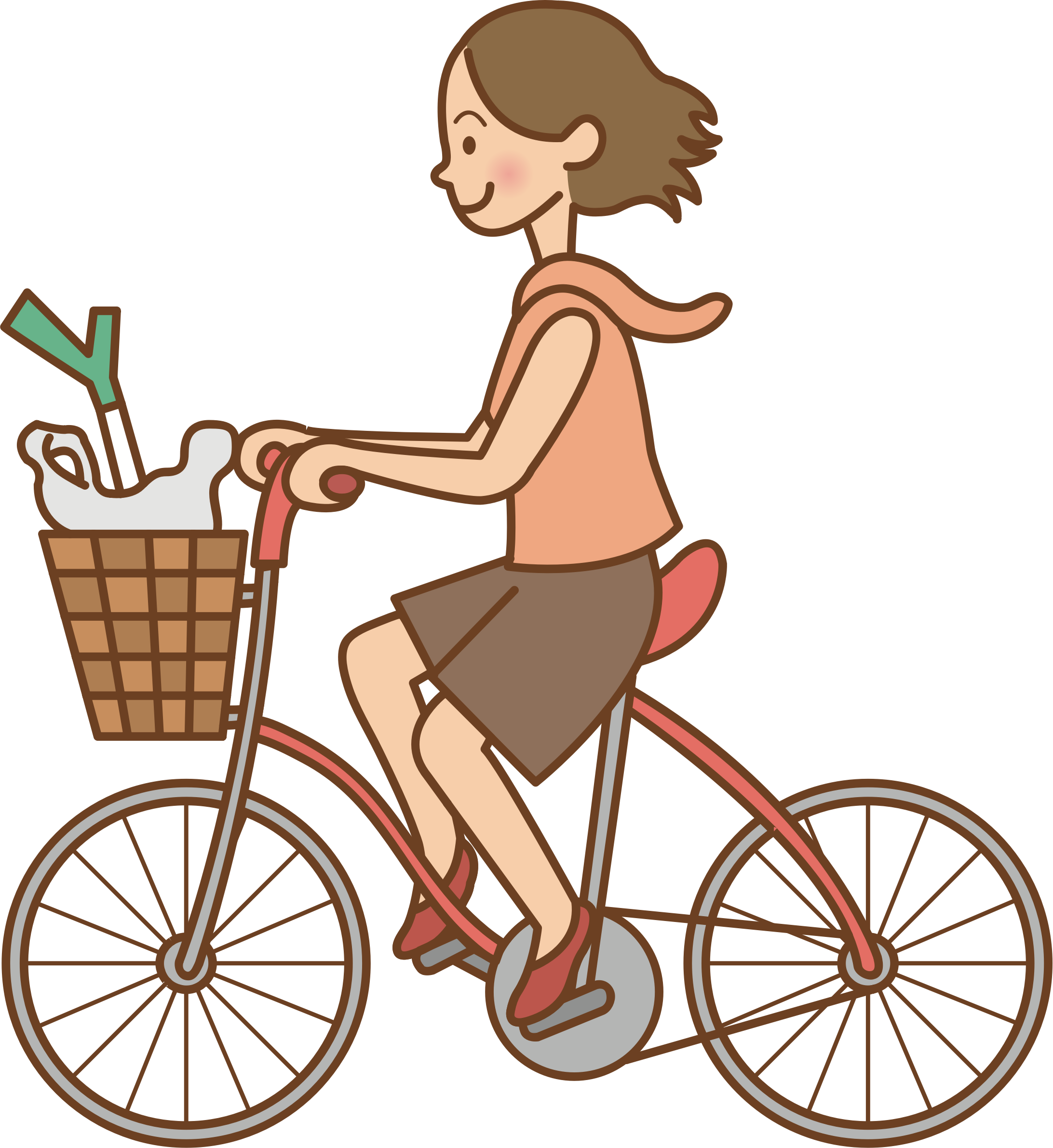 Cycle clipart female cyclist. Woman riding a bicycle