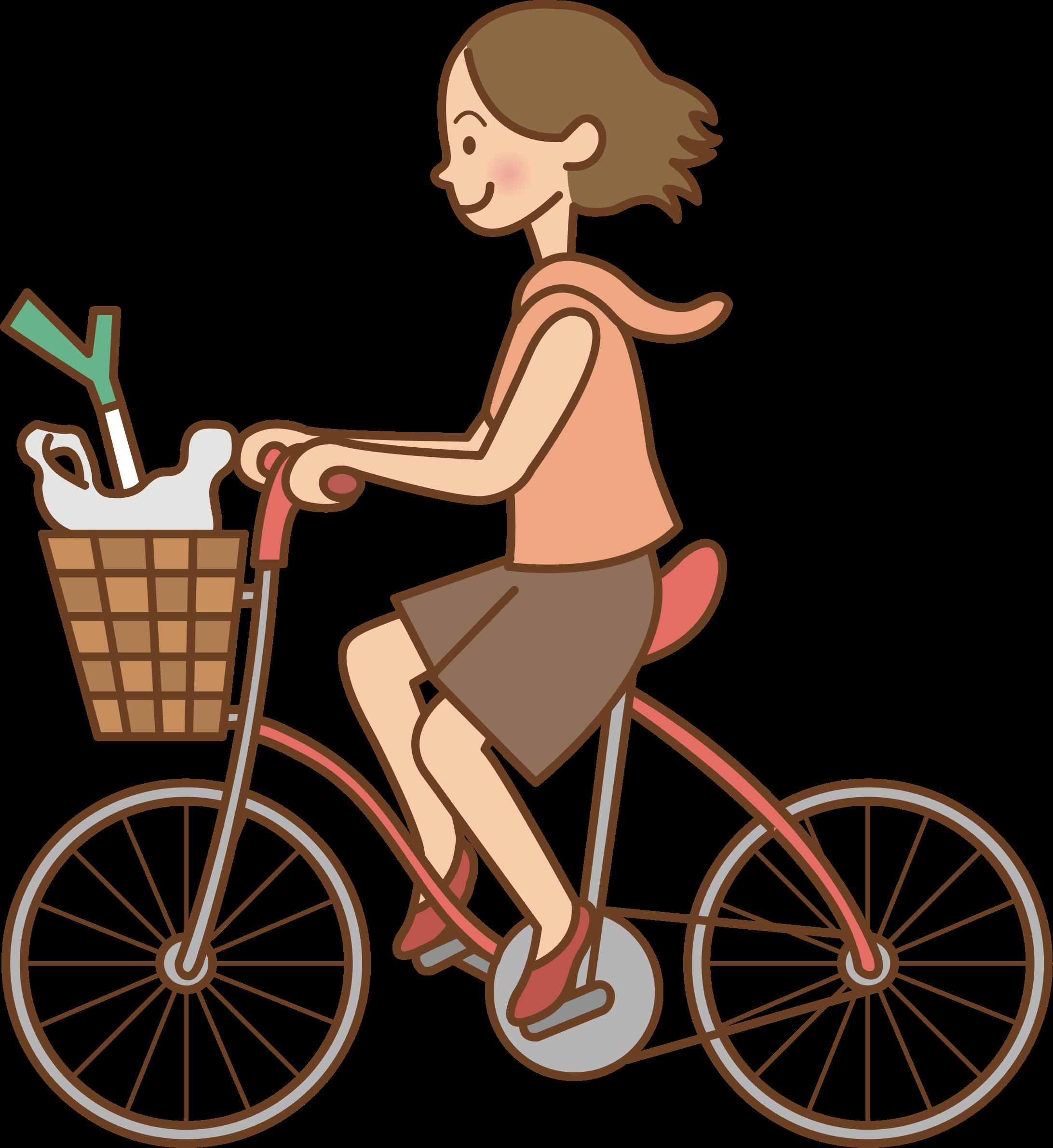 Woman riding a bicycle. Clipart bike bike rider