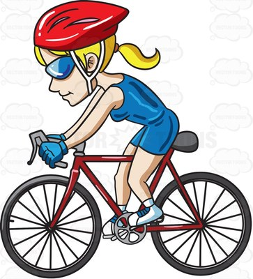 Cycle clipart female cyclist. Free download best on