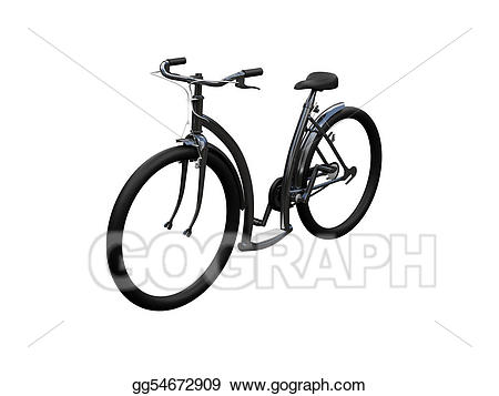 Isolated moto view stock. Clipart bicycle front