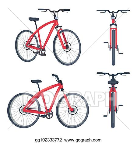Clipart bicycle front. Vector stock bike with