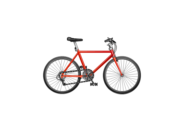 Clipart bicycle land transportation. Road transport vector stencils