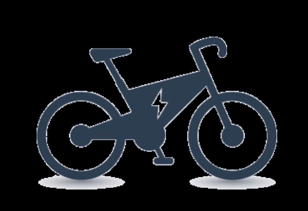Electric bike motor control. Clipart bicycle motorbike