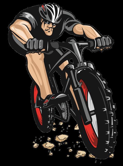 Downhill bomber bike pinterest. Skeleton clipart biker