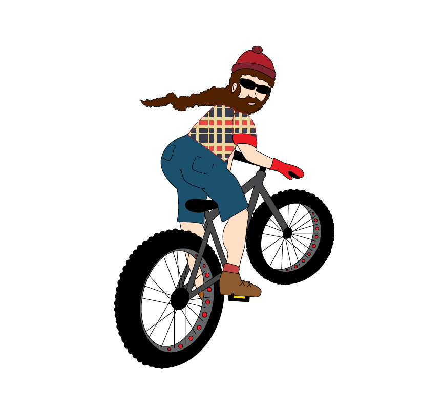 Hugh jass fat bike. Clipart bicycle olympic cycling