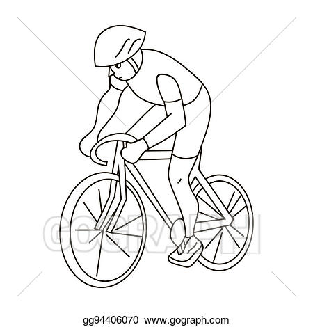 An athlete with a. Clipart bicycle olympic cycling