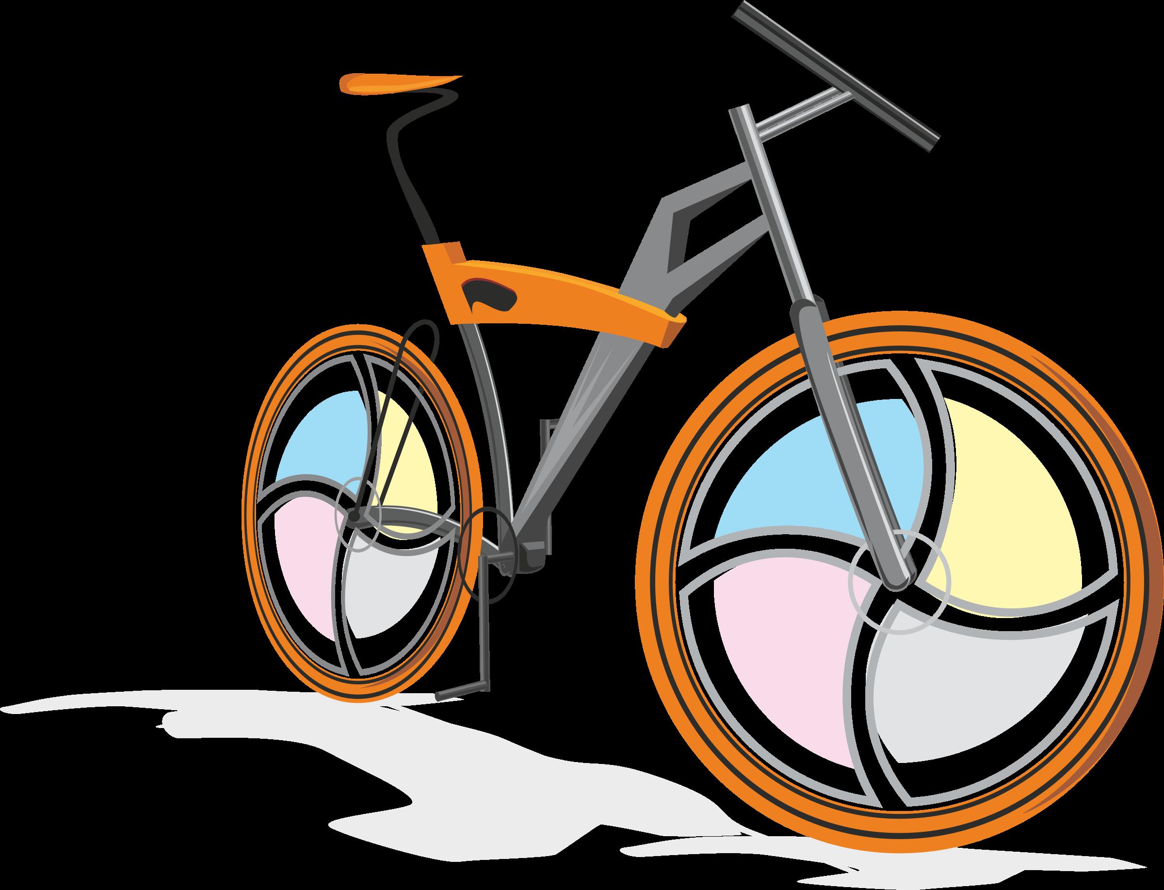 . Clipart bicycle orange