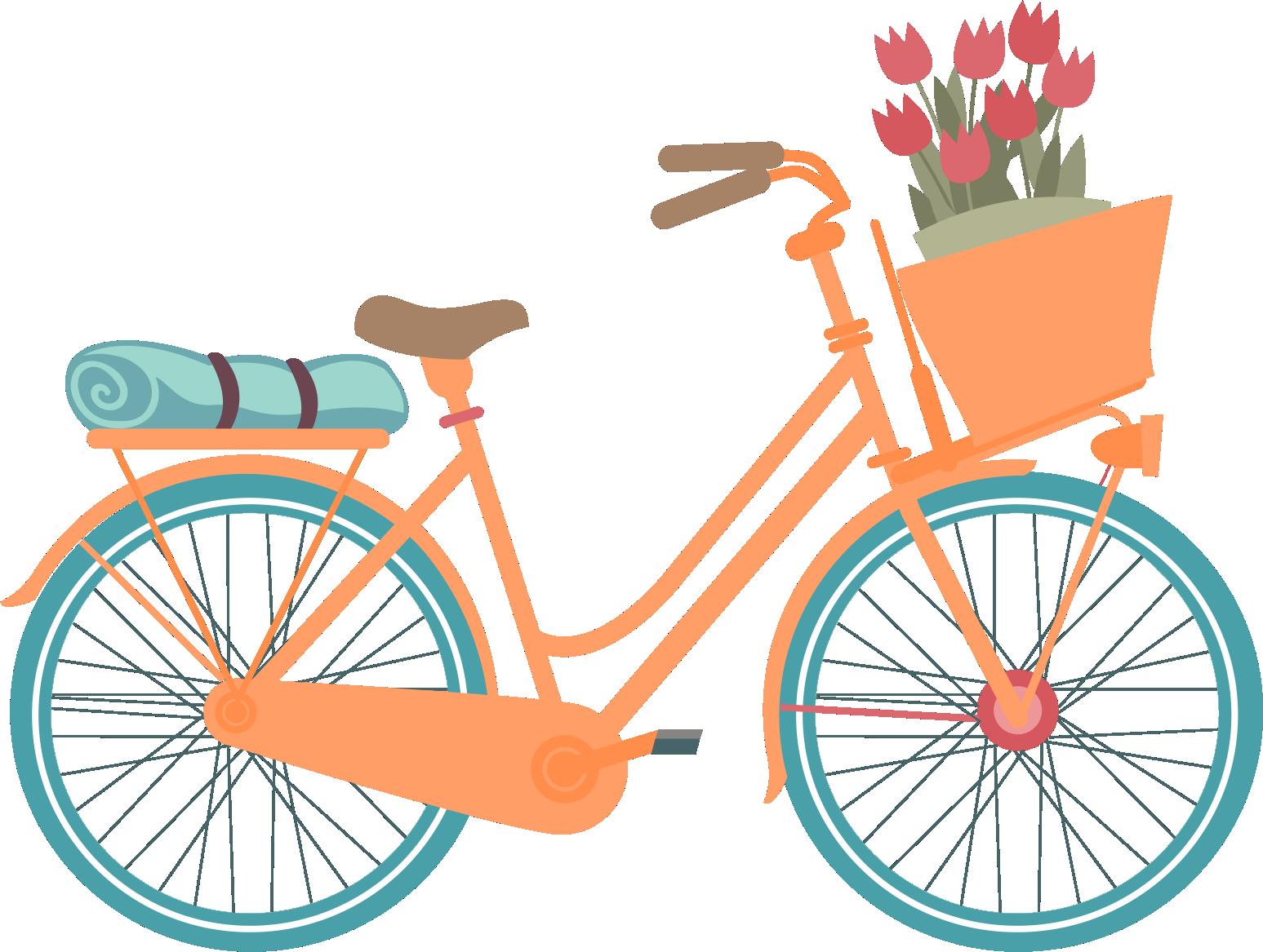 Orange clipart bike.  ilustra es bicicletas