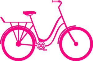 Cycling clipart pink bicycle. Bike clip art clker