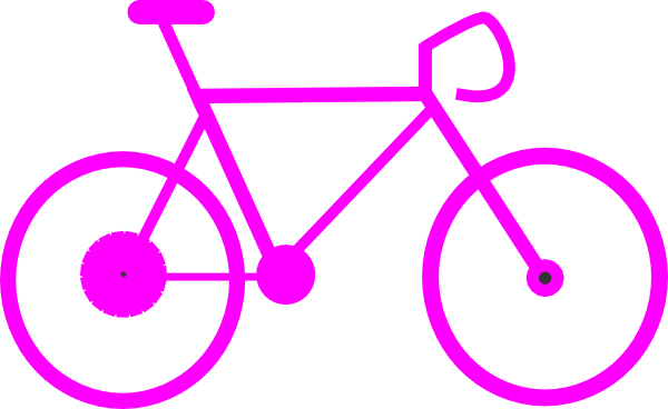 Cycling clipart pink bicycle. Free cliparts download clip