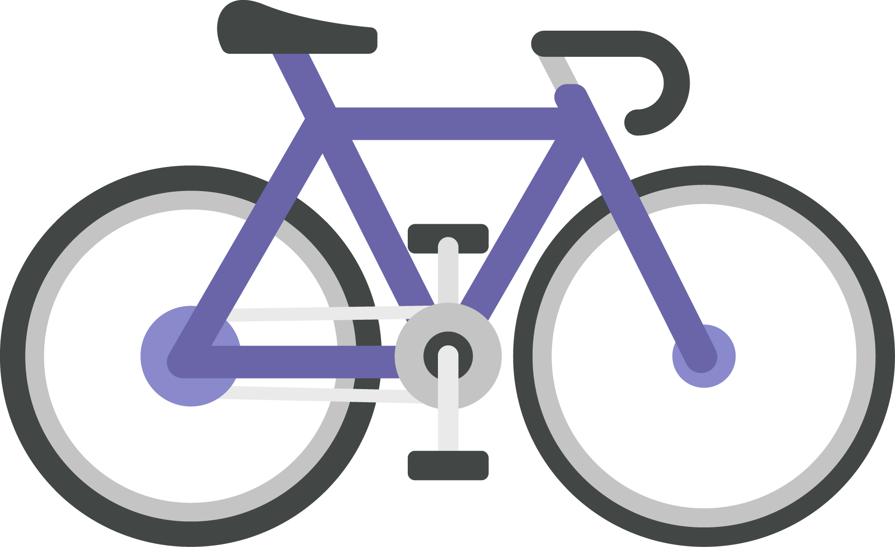 Electric bicycle cycling icon. Clipart bike purple bike
