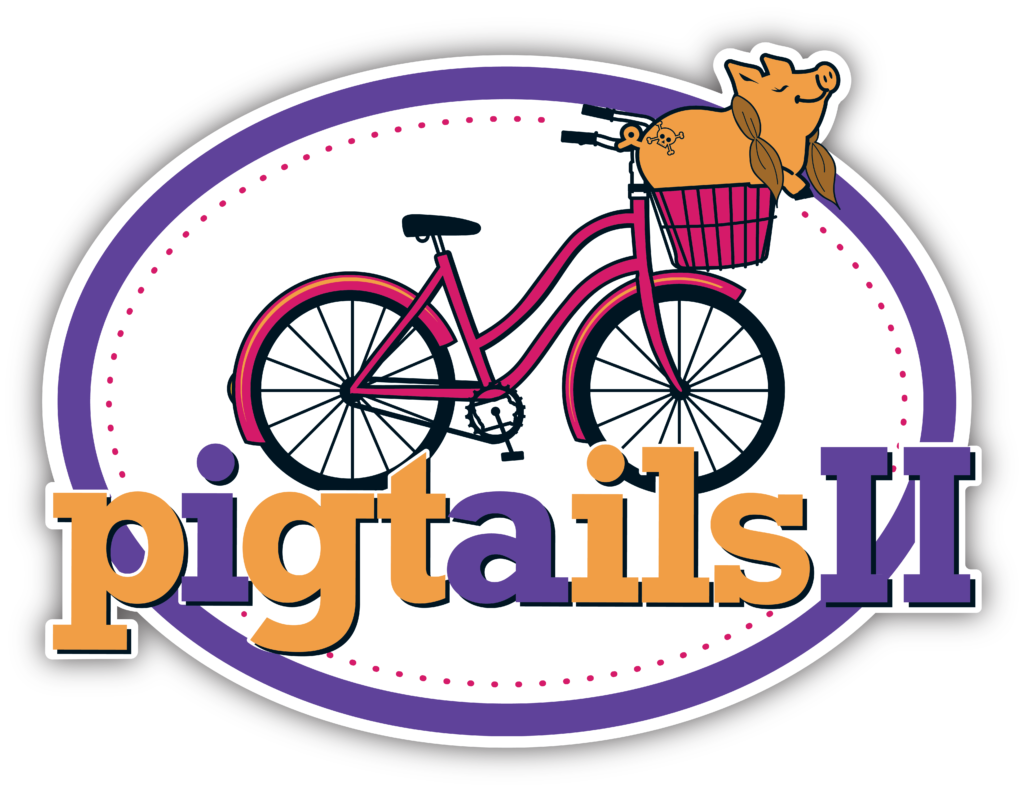 Clipart bicycle rally. Pigtails ii ragbrai