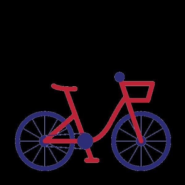 Bicycle red bike