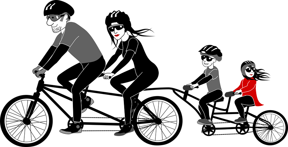 Clipart bike rode. Put a lid on