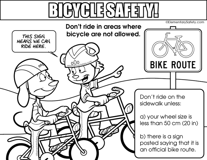 Elementary safety bigger image. Clipart road coloring page