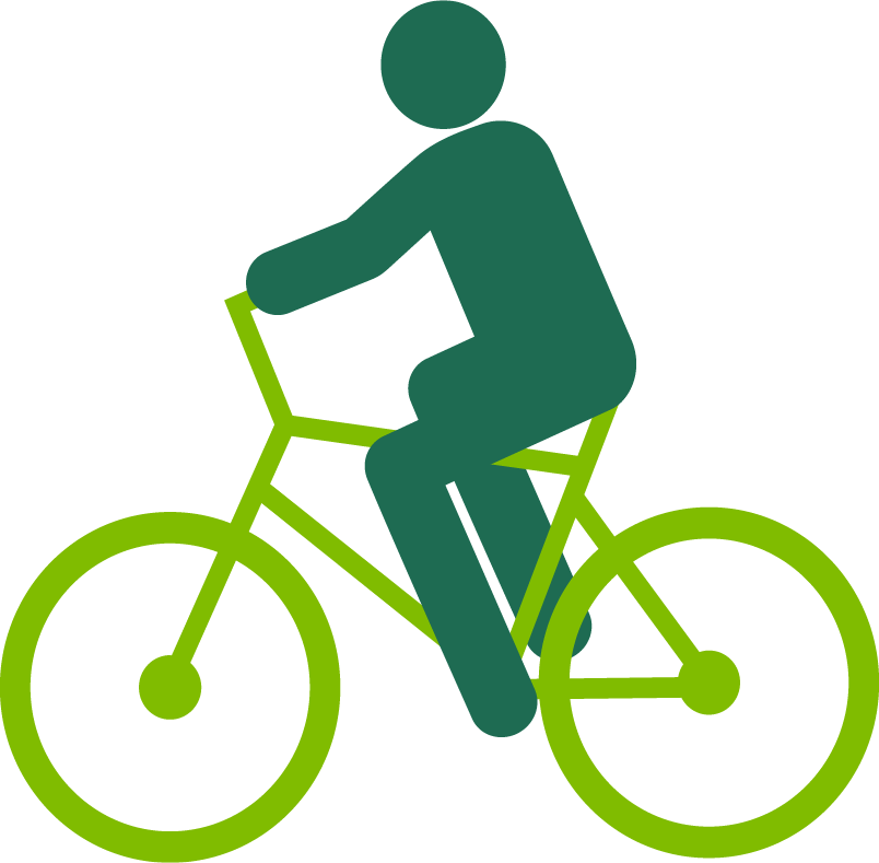 Clipart bicycle simple bike. Graphic of a person