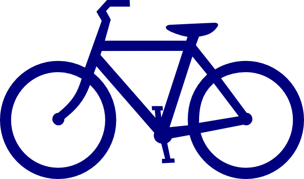 Blue clip art at. Clipart bicycle small bike
