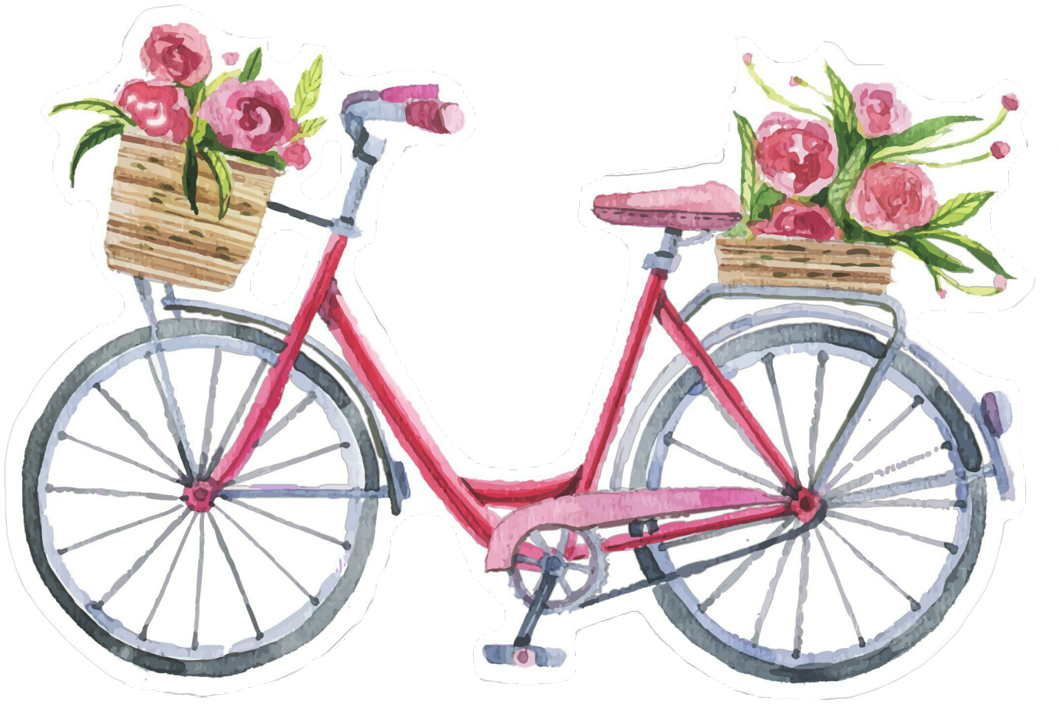Clipart bicycle spring. Bike bycicle flower summer
