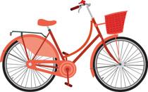 Clipart bike basket. Free bicycle clip art