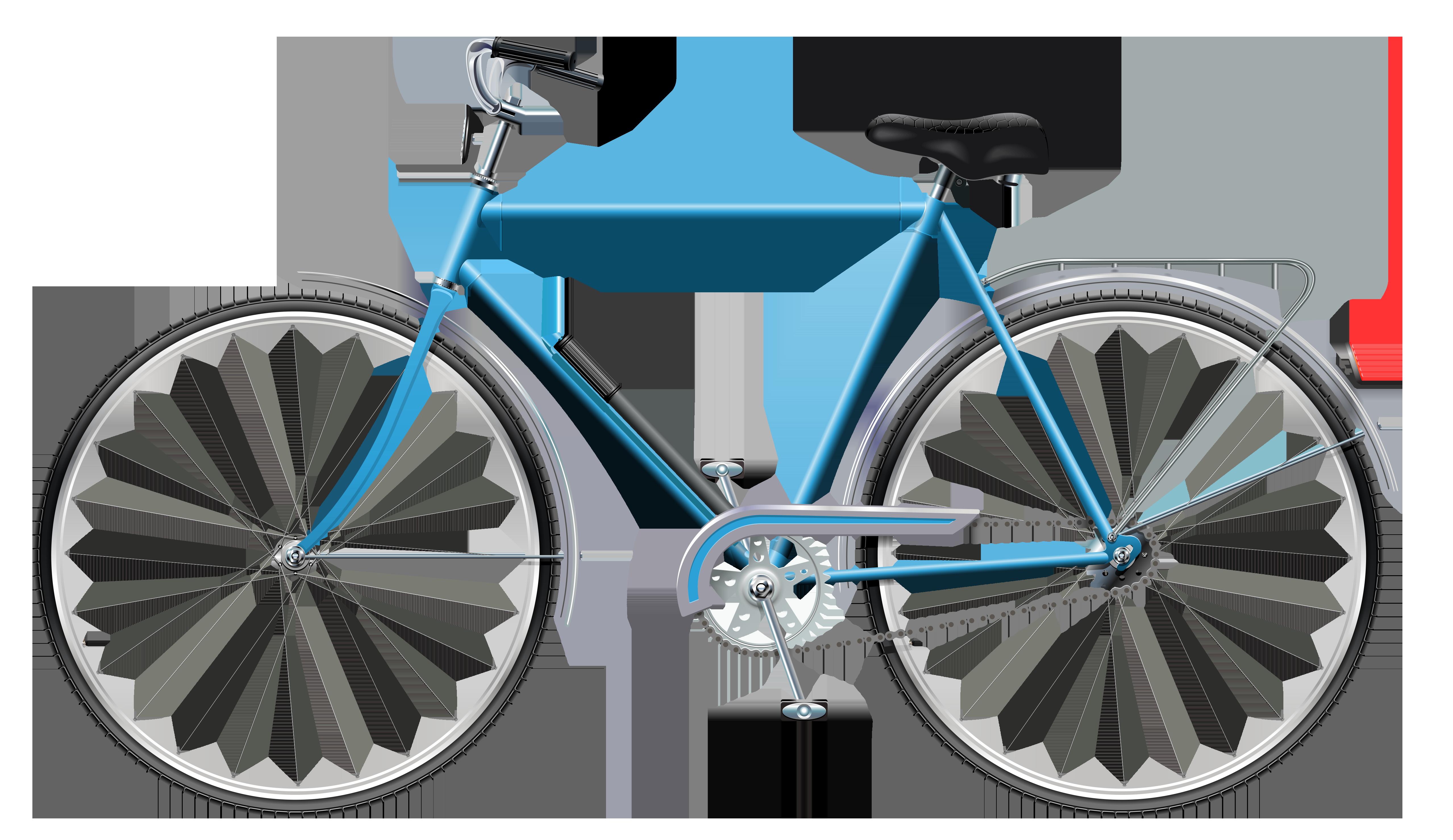 Clipart bicycle transparent background. Blue png clip art