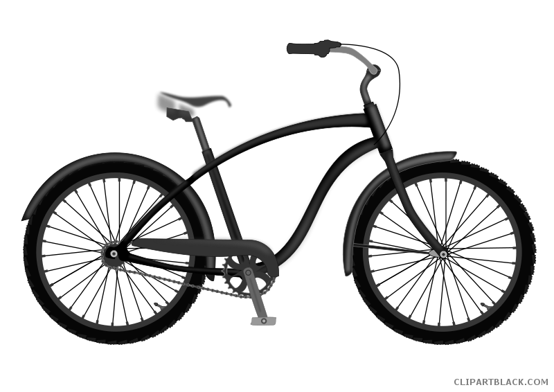 Clipart bicycle transportation. Free black white images