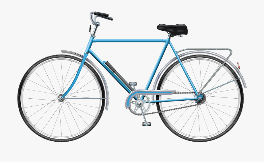 Clipart bicycle transportation. Blue png clip art