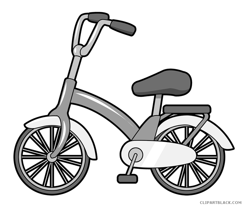 Free black white images. Clipart bicycle transportation