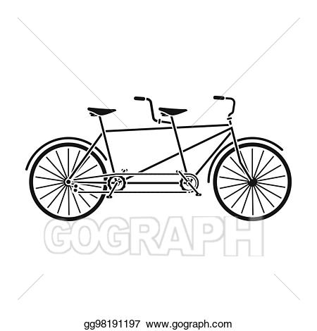 Clipart bicycle two bike. Tandem pleasure for double