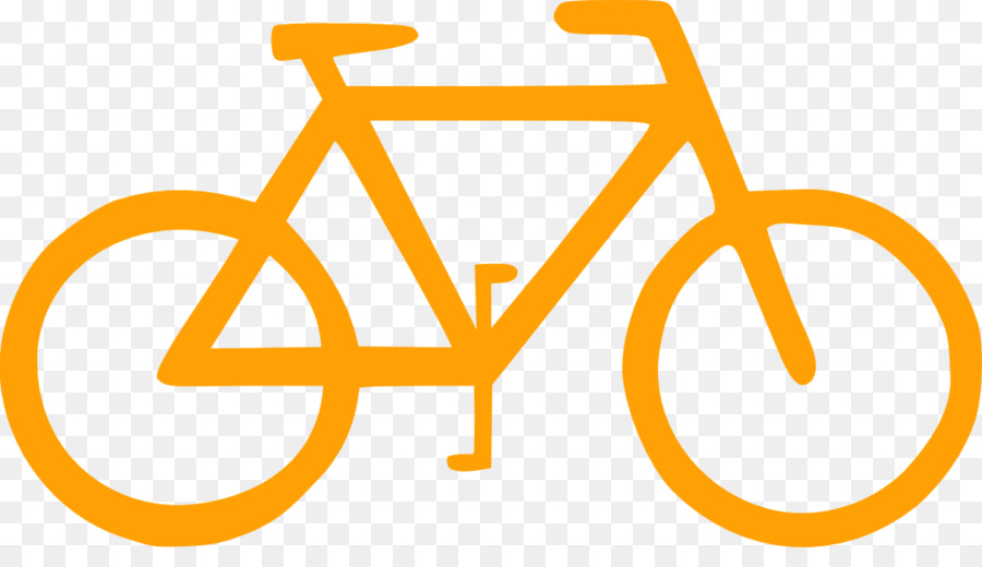 Cycle clipart yellow bicycle. Cartoon cycling