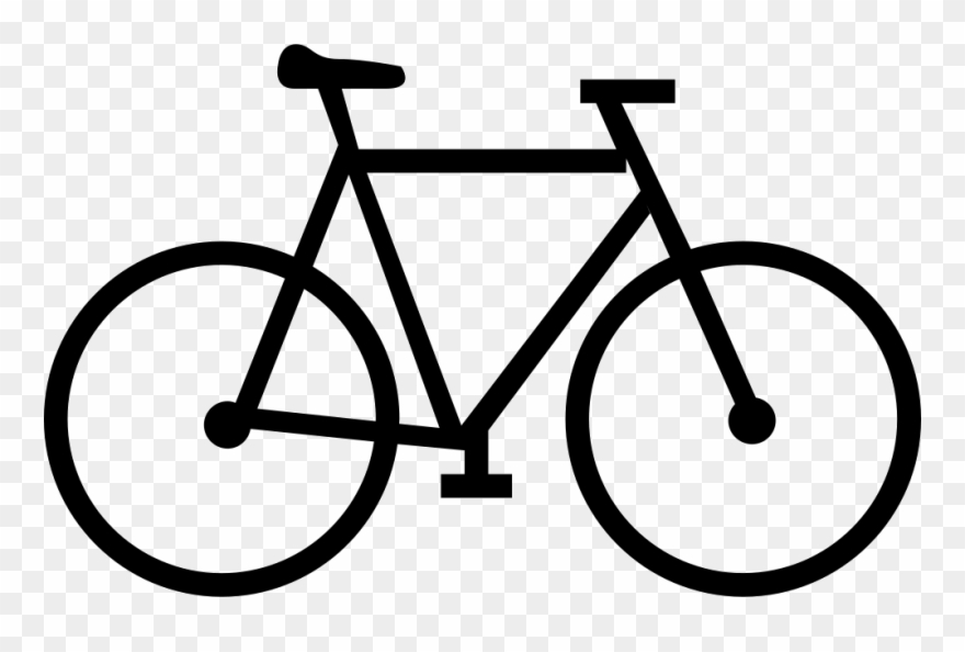 Bicycle clipart transparent background. Bike svg icon png