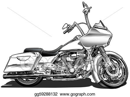 Motorcycle clipart bagger. Drawing custom