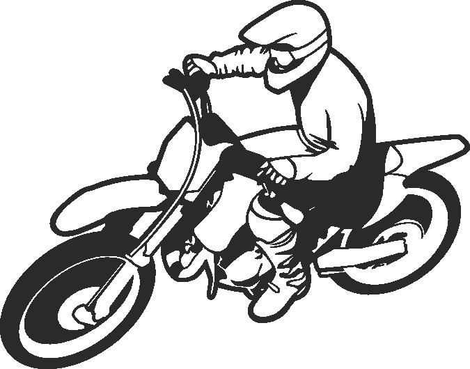 Bike rider wall decal. Worm clipart dirt clipart