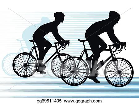 Cycle clipart vector. Bike race illustration gg