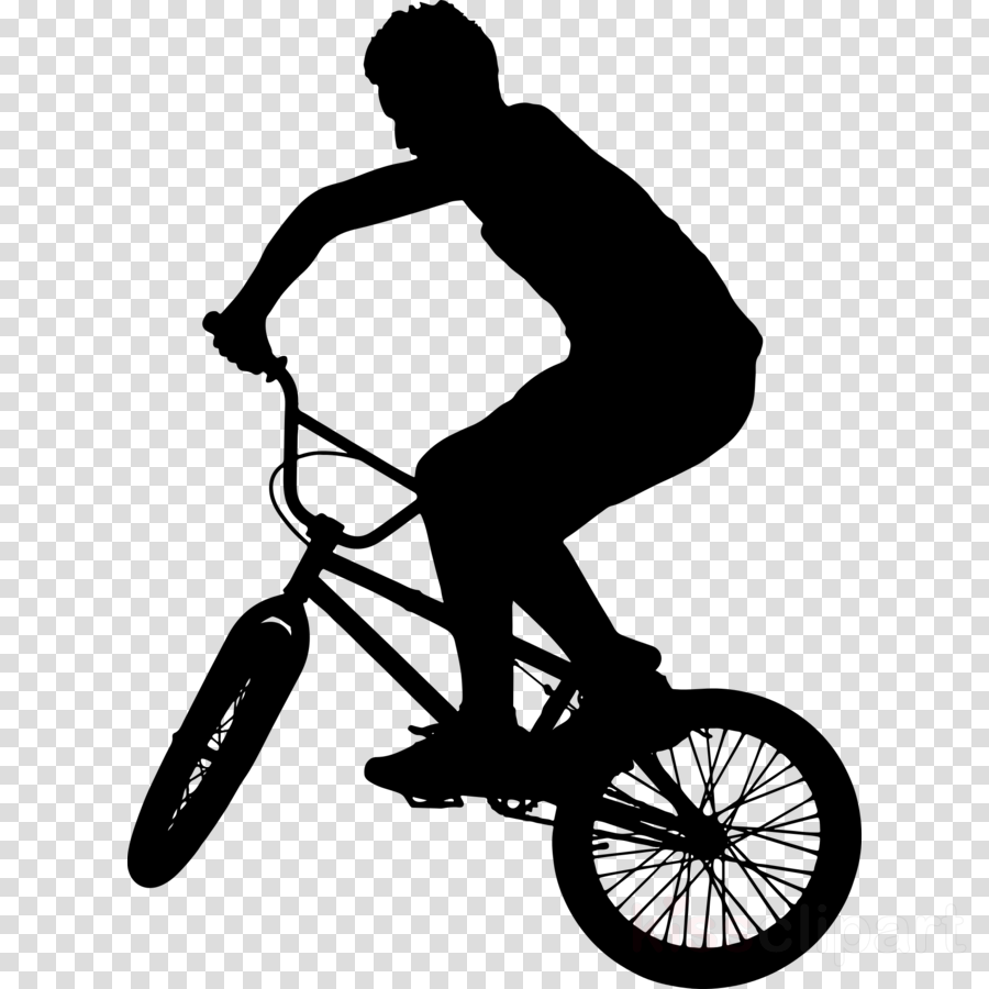 Clipart bike bmx bicycle. Black and white frame