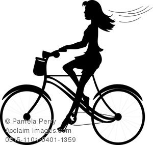 Cycle clipart female cyclist. Clip art image of