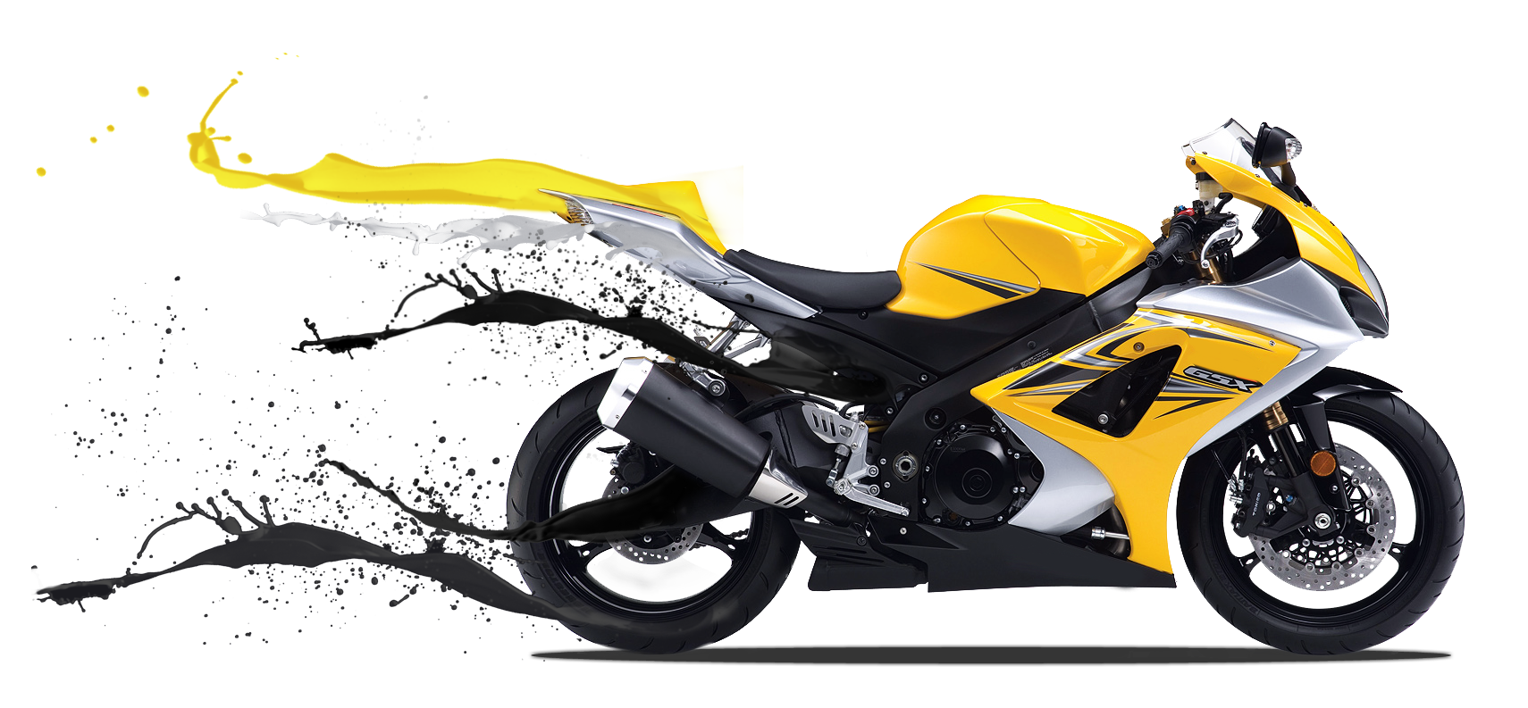 Motorbike hd png transparent. Motorcycle clipart yellow motorcycle