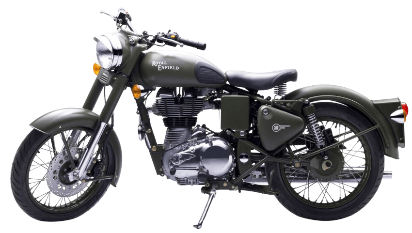 Clipart bike classic. Royal enfield green motorcycle