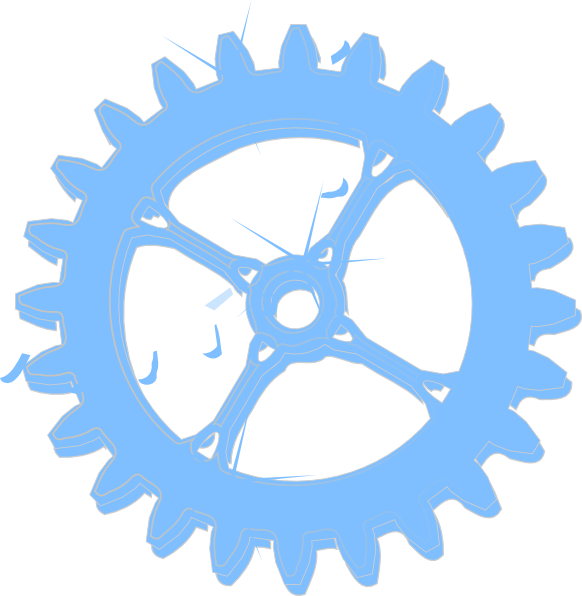 Wheel clipart blue. Light chrome cog clip