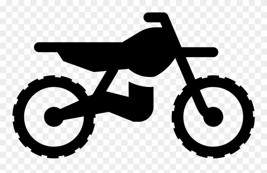 Filled icon . Clipart bike dirt bike