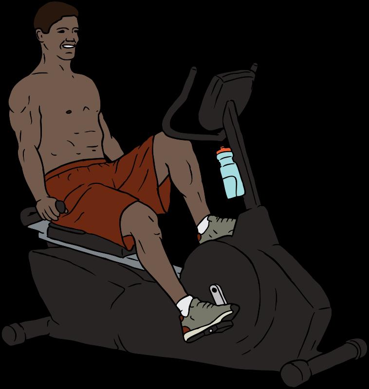 Clipart bike man. Exercise medium image png