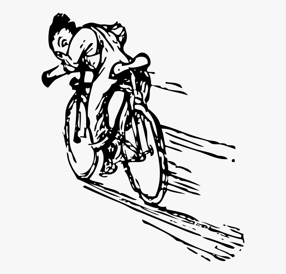 Clipart bike momentum. Cycling riding a fast