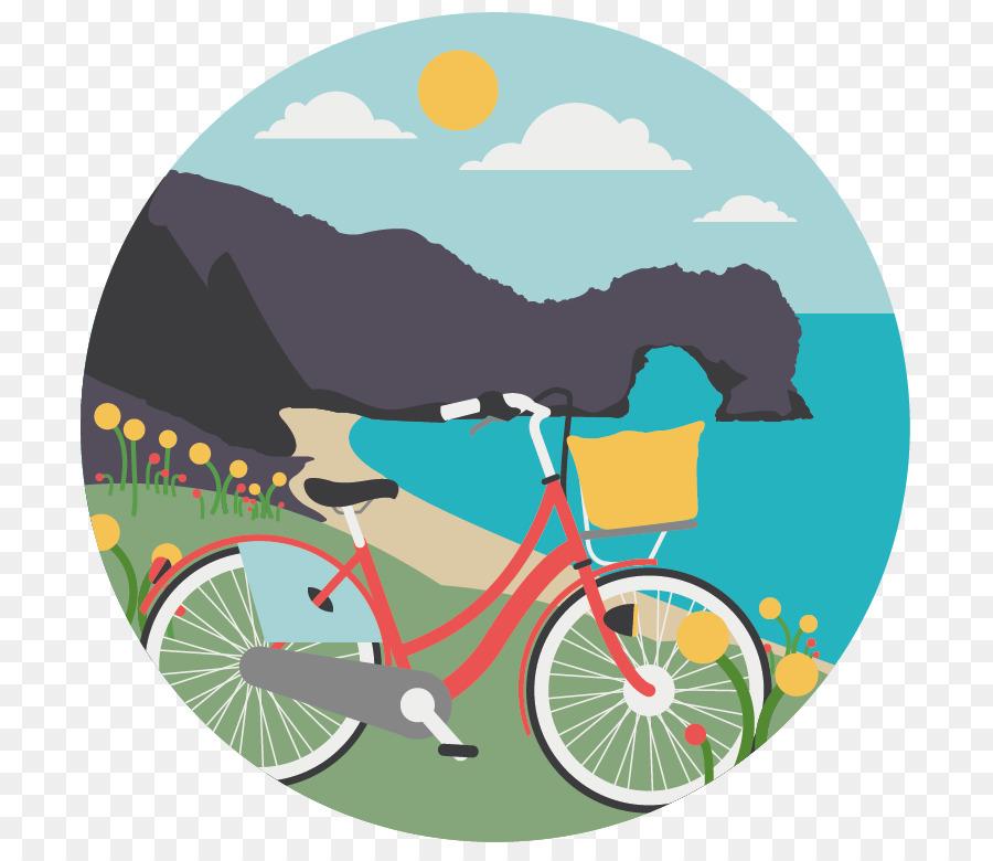 Bicycle cartoon illustration cycling. Clipart bike momentum
