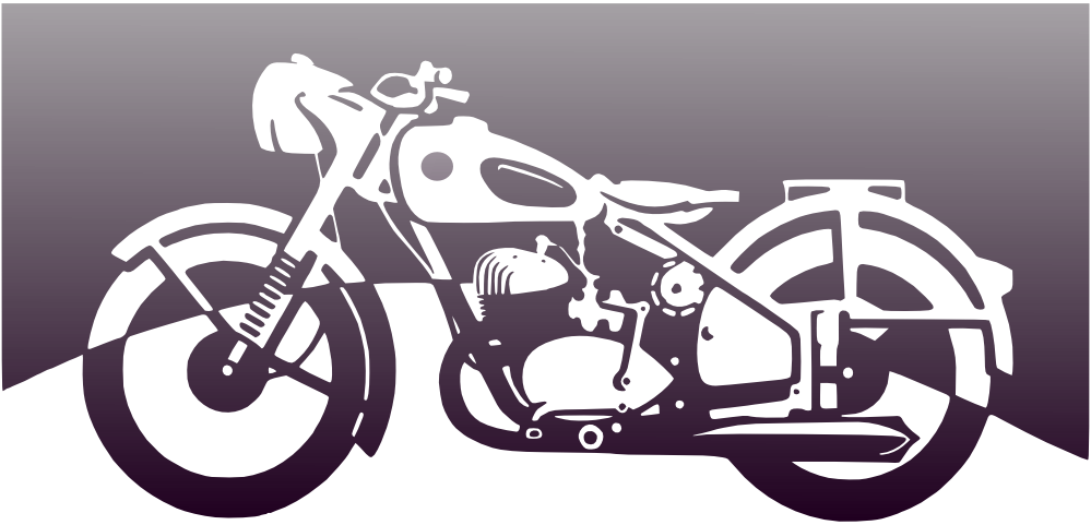 White clipart motorcycle. Clipartist net search results
