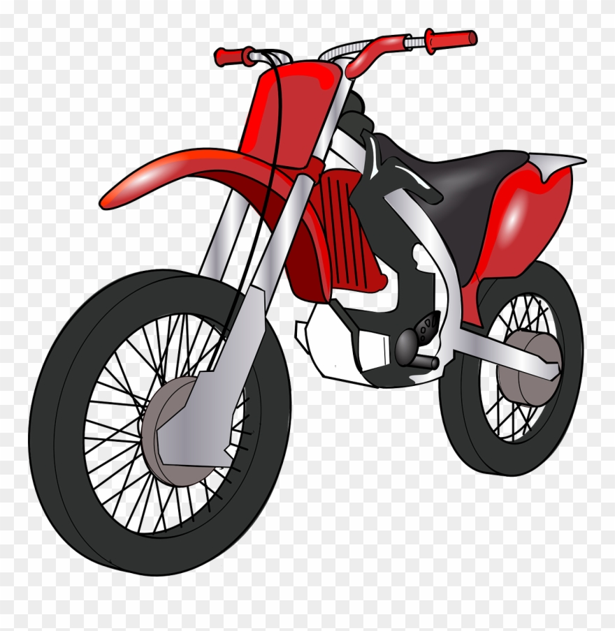 Cartoon motorbike pinclipart . Motorcycle clipart red dirt