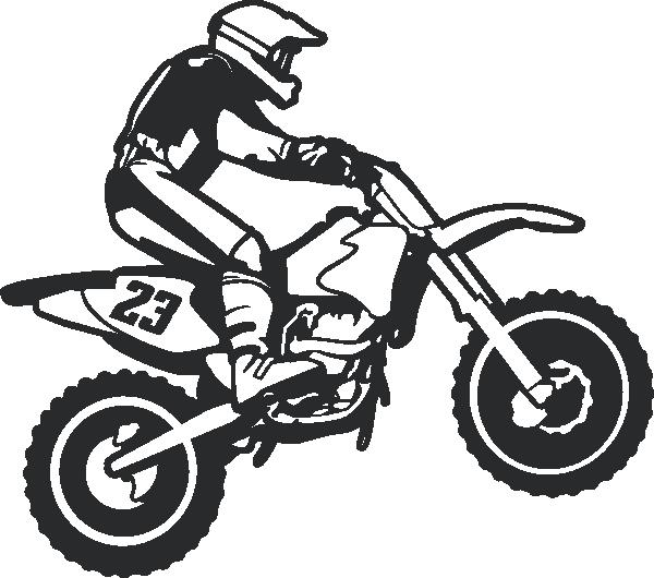 Dirt wall decal stickersstickers. Clipart bike motocross bike