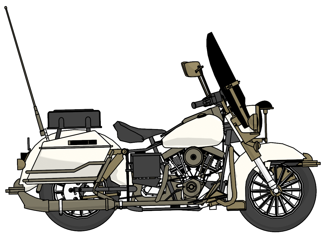 Harley davidson police side. Motorcycle clipart pizza