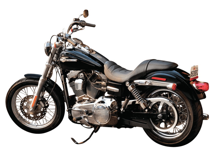 Black Harley Davidson Motorcycle Bike png